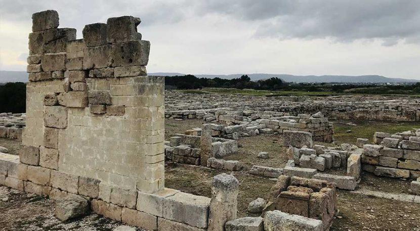 veduta del parco archeologico di Egnazia