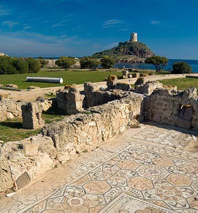 mosaici del parco archeologico di nora