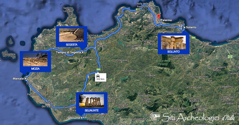 itinerario archeologico sicilia occidentale