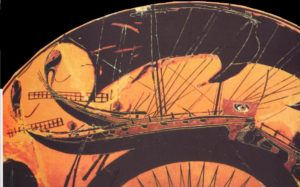 antica nave greca ritrovata durante i lavori del cantiere tap