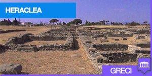veduta del parco archeologico di Heraclea in Basilicata
