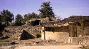 veduta delle rovine dell'antica città di veio