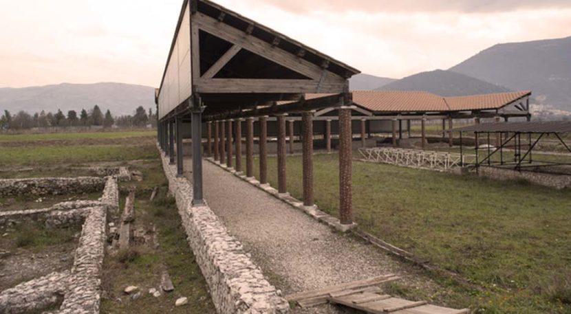 veduta del parco archeologico di Corfinio