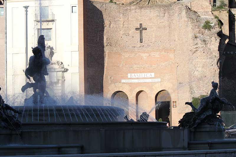 terme di diocleziano a roma, facciata della basilica