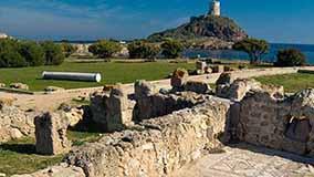 rovine dell'antica città di nora
