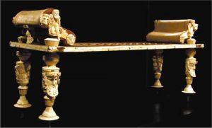 letto funebre in avorio dalla tomba 520