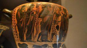 vaso con decorazione su Dioniso