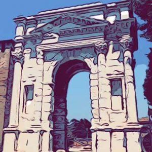 arco dei gavi Verona vignetta